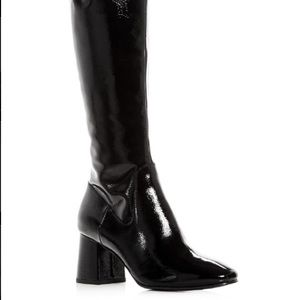 Gucci Patent Leather Pointed Toe Black Boots